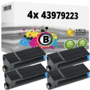 4x Alternativ OKI Toner 43979223 Schwarz