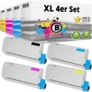 Set 4x Alternativ OKI Toner 44315320 44315319 44315318 44315317