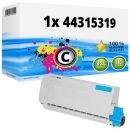 Alternativ OKI Toner 44315319 Cyan
