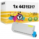 Alternativ OKI Toner 44315317 Gelb
