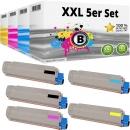 Set 5x Alternativ OKI Toner 44059128 44059127 44059126 44059125