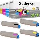 Set 4x Alternativ OKI Toner 44059232 44059231 44059230 44059229