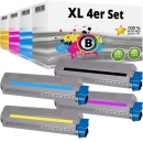Set 4x Alternativ OKI Toner 45862840 45862839 45862838 45862837