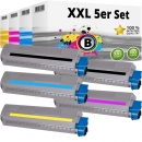 Set 5x Alternativ OKI Toner 45862840 45862839 45862838 45862837