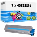 Alternativ OKI Toner 45862839 Cyan