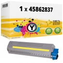 Alternativ OKI Toner 45862837 Gelb