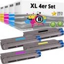 Set 4x Alternativ OKI Toner 46507616 46507615 46507614 46507613