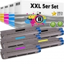 Set 5x Alternativ OKI Toner 46507616 46507615 46507614 46507613