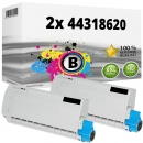 2x Alternativ OKI Toner 44318620 Schwarz