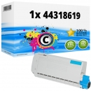 Alternativ OKI Toner 44318619 Cyan