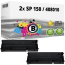 2x Alternativ Ricoh Toner Type SP 150 / 408010 Schwarz