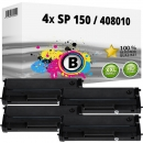 4x Alternativ Ricoh Toner Type SP 150 / 408010 Schwarz