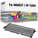 Alternativ Ricoh Toner 406837 / SP 1200E Schwarz