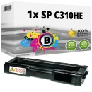 Alternativ Ricoh Toner 406479 / 407634 / SP C310HE Schwarz