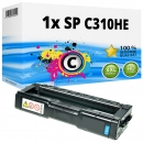 Alternativ Ricoh Toner 406480 / 407637 / SP C310HE Cyan