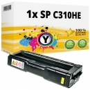 Alternativ Ricoh Toner 406482 / 407635 / SP C310HE Gelb