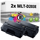 2x Alternativ Samsung Toner MLT-D203E Schwarz Set