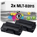 2x Alternativ Samsung Toner MLT-D201S Schwarz Set