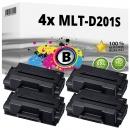 4x Alternativ Samsung Toner MLT-D201S Schwarz Set