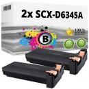 2x Alternativ Samsung Toner SCX-D6345A Schwarz Set