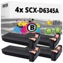 4x Alternativ Samsung Toner SCX-D6345A Schwarz Set
