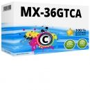 Alternativ  Sharp Toner MX-36GTCA Cyan