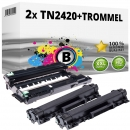 2x Alternativ Brother Toner TN-2420 + DR-2400 Trommel