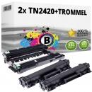 2x Alternativ Brother Toner TN-2420 + DR-2400 Trommel