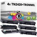 4x Alternativ Brother Toner TN-2420 + DR-2400 Trommel