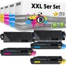 5x Alternativ Kyocera Toner TK-5270 Schwarz Cyan Magenta Gelb