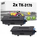 2x Alternativ Kyocera Toner TK-3170 / 1T02T80NL0 Schwarz
