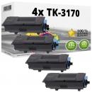 4x Alternativ Kyocera Toner TK-3170 / 1T02T80NL0 Schwarz