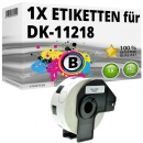 Alternativ Etiketten Brother DK-11218