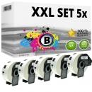 Set 5x Alternativ Brother runde Etiketten DK-11219 Label