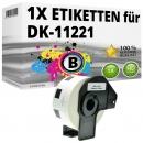 Alternativ Brother quadratische Etiketten DK-11221 Label