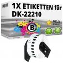 Alternativ Brother Endlos-Etikett DK-22210 Tape