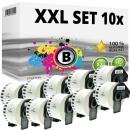 Set 10x Alternativ Brother Endlos-Etikett DK-22223 Tape