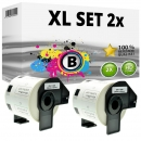 Set 2x Alternativ Brother Adress-Etiketten DK-11209 Label