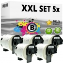 Set 5x Alternativ Brother Adress-Etiketten DK-11209 Label