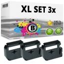 Set 3x Alternativ Brother Schriftbandkassette M-K231 12mm