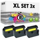 Set 3x Alternativ Brother Schriftbandkassette M-K631 12mm