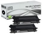 Alternativ Brother Toner TN-135BK Schwarz Doppelpack