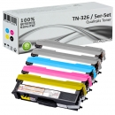 5x Alternativ Toner Brother TN-326 Set Mehrfarbig