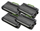 4x Alternativ Brother Toner TN-3480 Schwarz