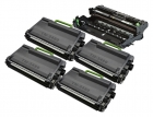 Alternativ Set 4x Brother Toner TN-3480 + Trommel DR-3400