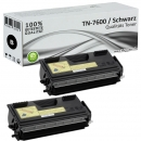 2x Alternativ Brother Toner TN-7600 Schwarz