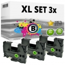 Set 3x Alternativ Brother Schriftbandkassette TZ-221 9mm