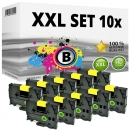 Set 10x Alternativ Brother Schriftbandkassette TZ-651 24mm