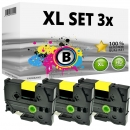 Set 3x Alternativ Brother Schriftbandkassette TZ-651 24mm