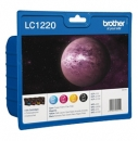 Original Brother Patronen LC-1220 4er Set Schwarz Cyan Magenta Gelb